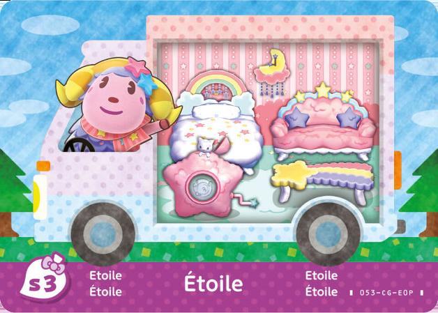 Animal Crossing Etoile Amiibo Card New Horizons FAST SHIPPING